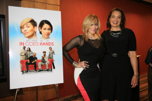 Keke Wyatt with Nina Henderson Moore, President of RLJ Entertainment – Urban