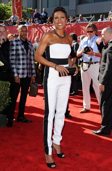 Robin Roberts arrives at the 2014 ESPYS at the Nokia Theatre in Los Angeles. (July 16, 2014)