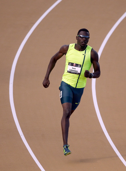 Torrin Lawrence runs in the men's 400 meter dash preliminaries during day 2 of the USATF Outdoor Championships at Hornet Stadium on June 26, 2014 in Sacramento, California
