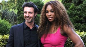 Serena Williams and her tennis coach Patrick Mouratoglou