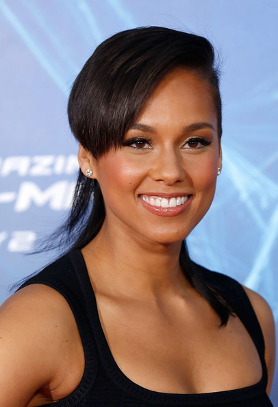 "Singer/musician Alicia Keys attends ""The Amazing Spider-Man 2"" premiere at the Ziegfeld Theater on April 24, 2014 in New York City"