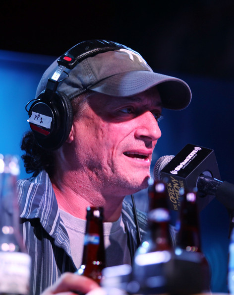 """SiriusXM host Anthony Cumia during the broadcast of a special edition of """"The Opie & Anthony Show"""" live from at 115 Bourbon Street Bar on August 10, 2012 in Chicago"""