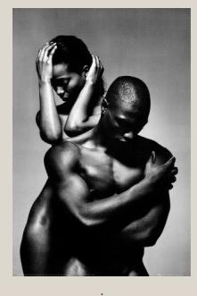 black male & female (b&w)
