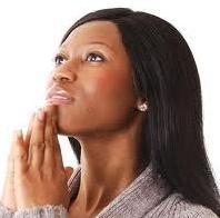 black woman - praying