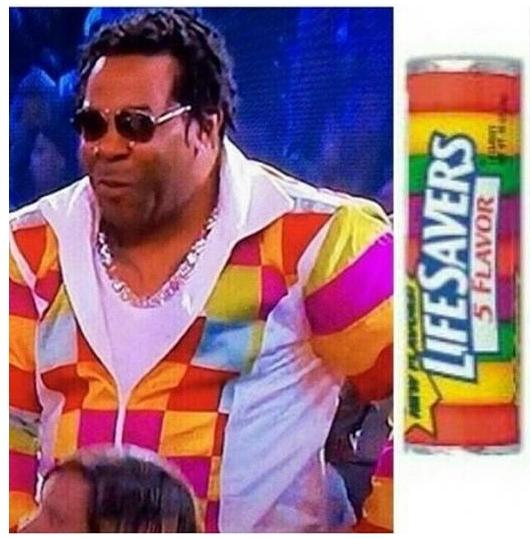 busta rhymes (lifesavers wardrobe)