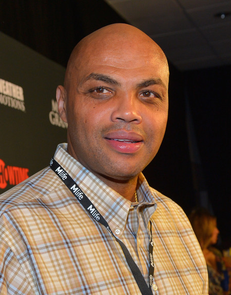 Former NBA player and sports commentator Charles Barkley arrives at the MGM Grand Garden Arena for the Floyd Mayweather Jr. vs. Canelo Alvarez boxing match on September 14, 2013 in Las Vegas, Nevada.