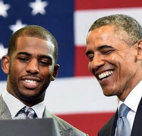 chris paul & president obama