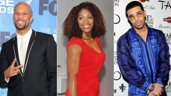 common, serena williams & drake