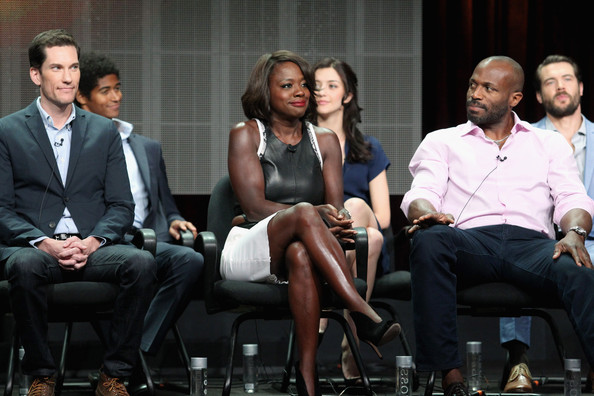 (L-R) Creator/executive producer Pete Nowalk, actors Viola Davis and Billy Brown speak onstage at the 'How To Get Away With Murder'' panel during the Disney/ABC Television Group portion of the 2014 Summer Television Critics Association at The Beverly Hilton Hotel on July 15, 2014 in Beverly Hills, California