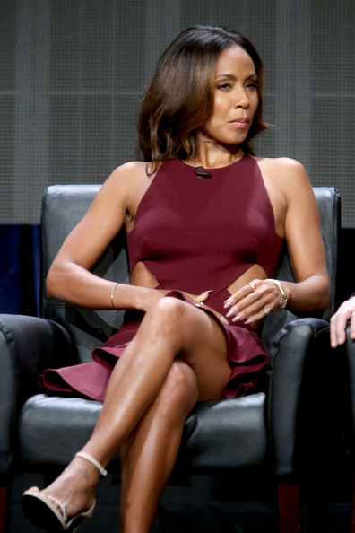 "Actress Jada Pinkett Smith speaks onstage at the ""Gotham"" panel during the FOX Network portion of the 2014 Summer Television Critics Association at The Beverly Hilton Hotel on July 20, 2014 in Beverly Hills, California"