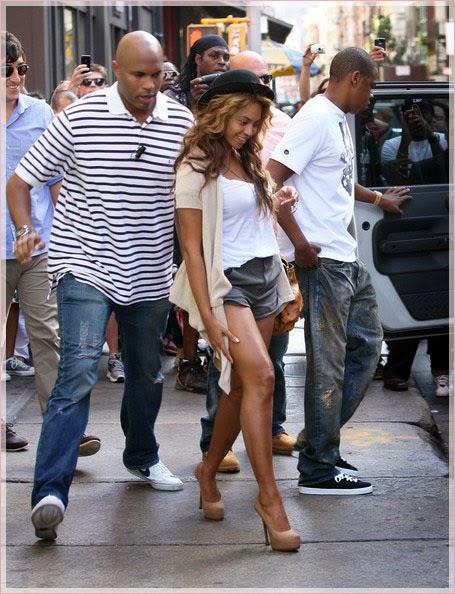 (L-R) Julius De Boer, Beyonce, Jay Z
