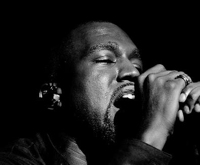 kanye with mic