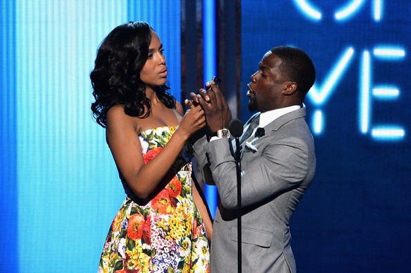 Kerry Washington and Kevin Hart during the BET AWARDS '14 at Nokia Theatre L.A. LIVE on June 29, 2014 in Los Angeles, California