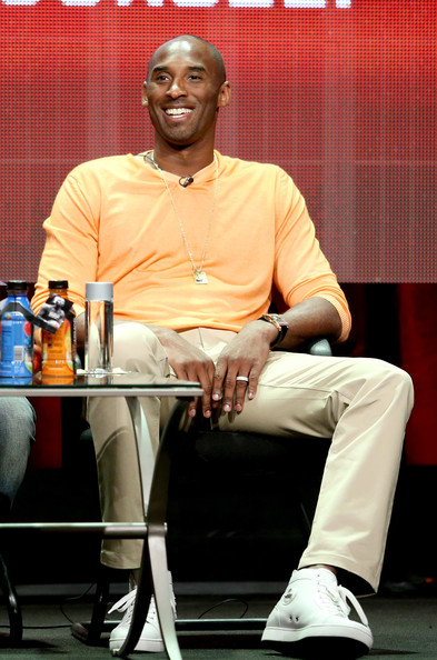 "Kobe Bryant speaks onstage at the ""Kobe Bryant's Muse"" panel during the El Rey Network portion of the 2014 Summer Television Critics Association at The Beverly Hilton Hotel on July 18, 2014 in Beverly Hills, California"