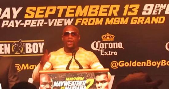mayweather press conference