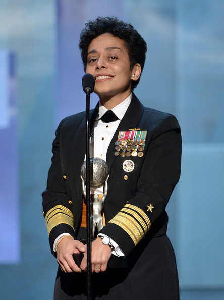 Vice Admiral Michelle Howard accepts the Chairman's Award onstage during the 44th NAACP Image Awards at The Shrine Auditorium on February 1, 2013 in Los Angeles