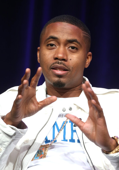 Recording Artist Nas speaks onstage at the 'Finding Your Roots 2 ' panel during the PBS Networks portion of the 2014 Summer Television Critics Association at The Beverly Hilton Hotel on July 23, 2014 in Beverly Hills, California