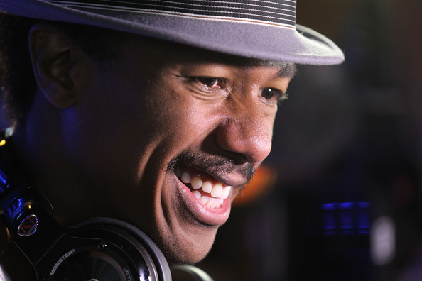 Nick Cannon arrives at Bud Light's ultimate FIFA World Cup viewing party on July 13, 2014 in Las Vegas, Nevada
