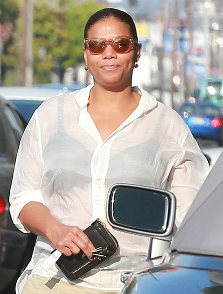 Actress/Rapper Queen Latifah spotted out for lunch in Los Angeles, California on May 25, 2014. Queen Latifah is about to start filming the biopic 'Blue Goose Hollow' where she plays lead role of jazz singer Bessie Smith