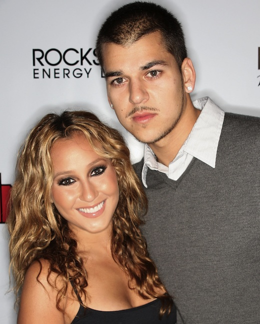 Adrienne Bailon (L) and Robert Kardashian Jr., attend the In Touch Weekly's Summer Stars Party at the Social Hollywood Club on May 22, 2008 in Los Angeles