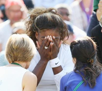 serena (not well at wimbledon)