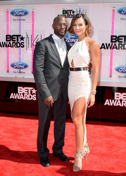 Actor Taye Diggs (L) and Amanza Smith Brown attend the BET AWARDS '14 at Nokia Theatre L.A. LIVE on June 29, 2014 in Los Angeles, California