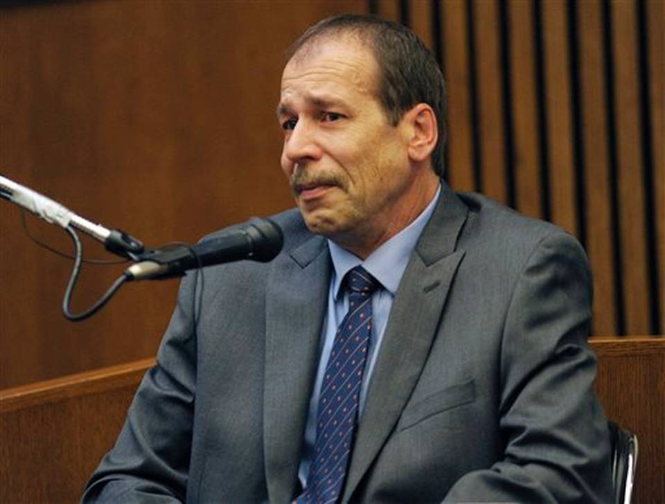 Theodore Wafer testifies in his own defense during the seventh day of testimony for the Nov. 2, 2013, killing of Renisha McBride, Mon, Aug. 4, 2014, in Detroit