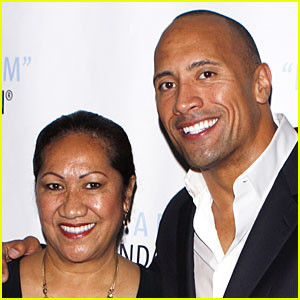 Dwayne Johnson and his mom