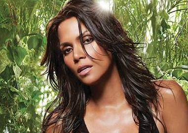 halle berry poses for wild essence fragrance