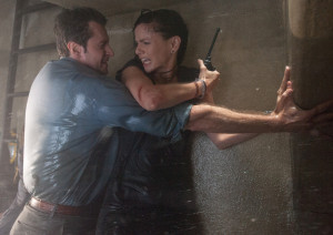 Richard Armitage and Sarah Wayne Callies hold on for dear life as storm rages 'Into the Storm'