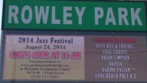 Gardena Jazz Festival Signage:Photo Credit,Ricky Richardson