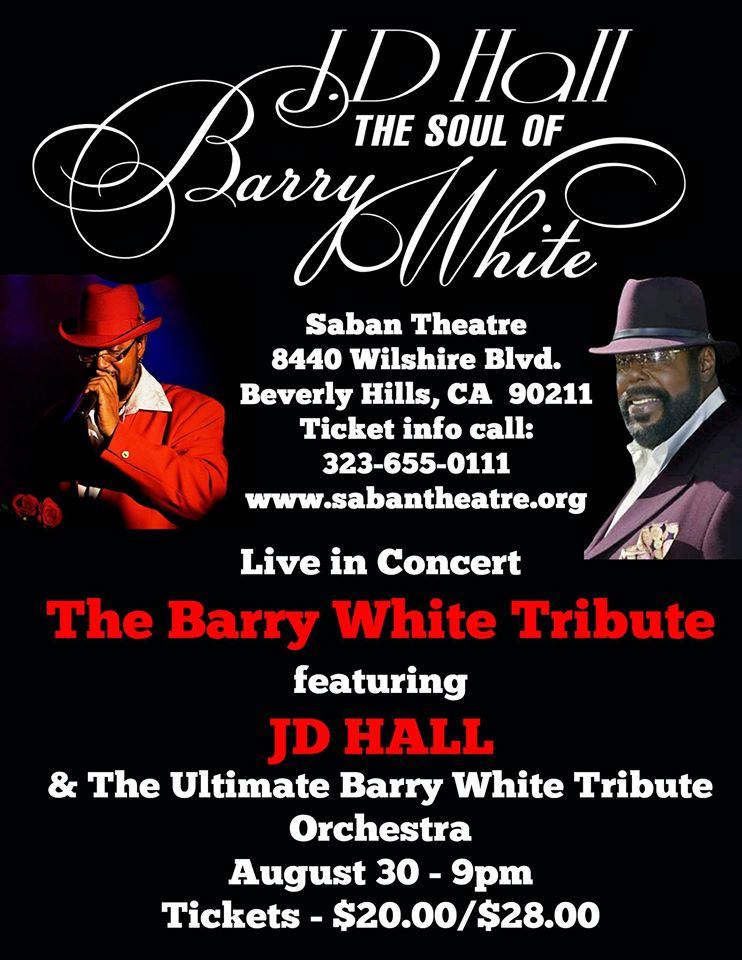 barry white tribute flyer