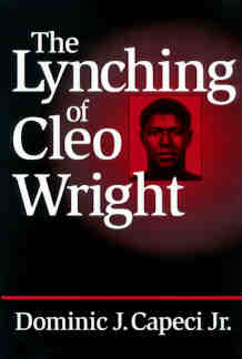 The Lynching of Cleo Wright book cover 9780813120485