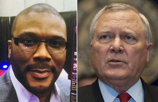 Tyler Perry and Ga. Gov. Nathan Deal