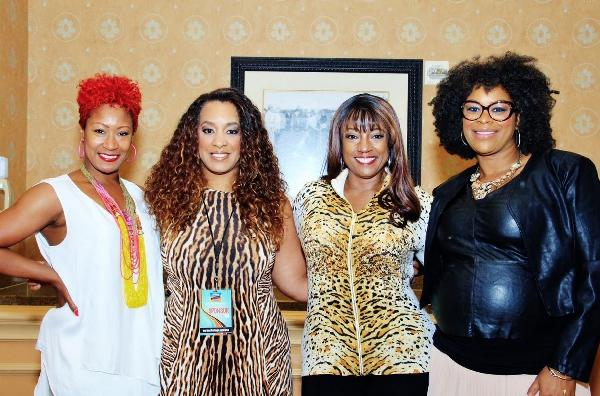 "Deya ""Direct"" Smith joined by African Pride marketing director Charlene Dance, actress Bern Nadette Stanis and beauty expert, Tia Hebron"