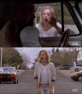 "Anna Gunn in the episode ""Ozymandias"" of AMC's ""Breaking Bad'"