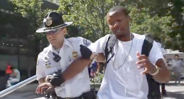 black man maced at seattle mal