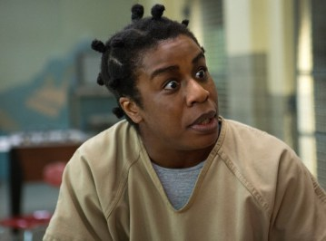 "Uzo Aduba as Crazy Eyes in the Netflix series ""Orange is the New Black"""