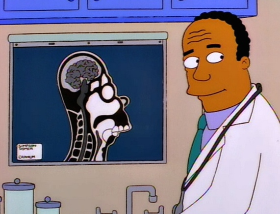 """Dr. Hibbert of """"The Simpsons"""""""