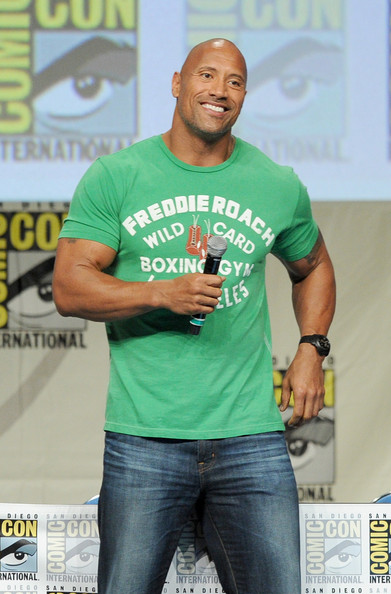 Dwayne Johnson attends the Paramount Studios presentation during Comic-Con International 2014 at the San Diego Convention Center on July 24, 2014 in San Diego