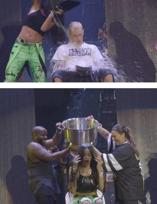 eminem & rihanna ice bucket challenge