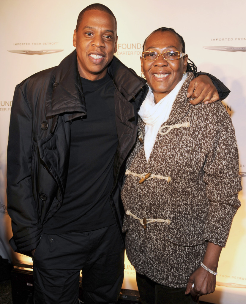"""Jay-Z and Gloria Carter attend an evening of """"Making The Ordinary Extraordinary"""" hosted by The Shawn Carter Foundation at Pier 54 on September 29, 2011 in New York City."""