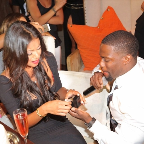 kevin hart puts ring on eniko parrish's hand