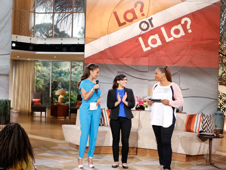 "La La Anthony And Queen Latifah Play ""La Or La La"""
