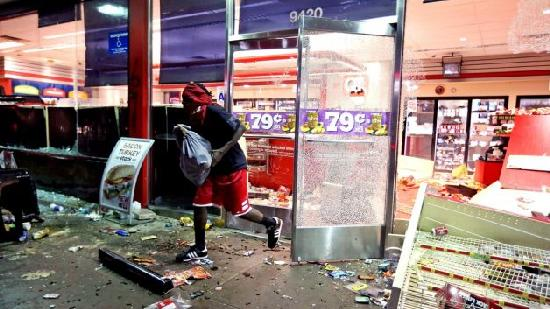 mike brown riot looting