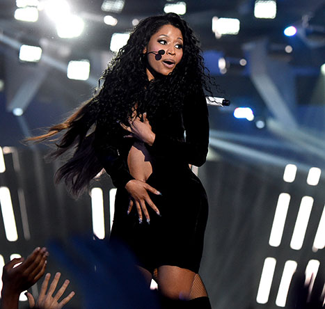 Nicki Minaj performs at the VMAs