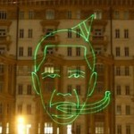 Russians Beam Racist Image of Obama in Moscow (Watch)