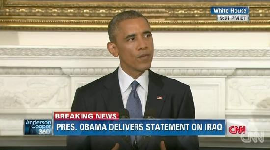 obama on iraq air strikes (08-07-14)