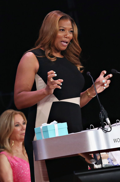 Honoree Queen Latifah speaks during the 2014 Matrix Awards at The Waldorf Astoria on April 28, 2014 in New York City