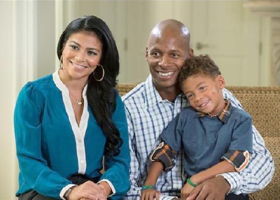 ray allen , wife & son
